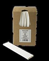 Трубочка бумажная B.A.R. 197x8 мм, 250 шт. Белая (2135)