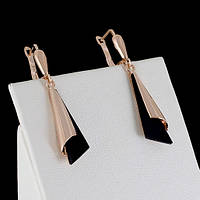 Блестящие серьги с кристаллами Swarovski, покрытые золотом 0658