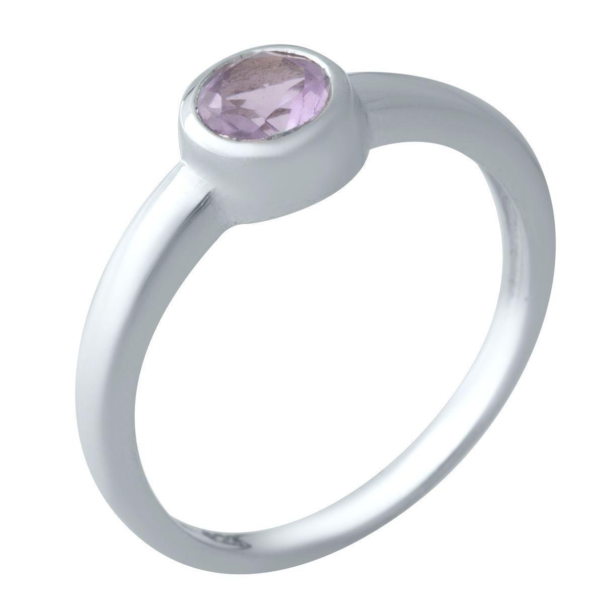 Серебряное кольцо DreamJewelry с натуральным аметистом (2020790) 17.5 размер