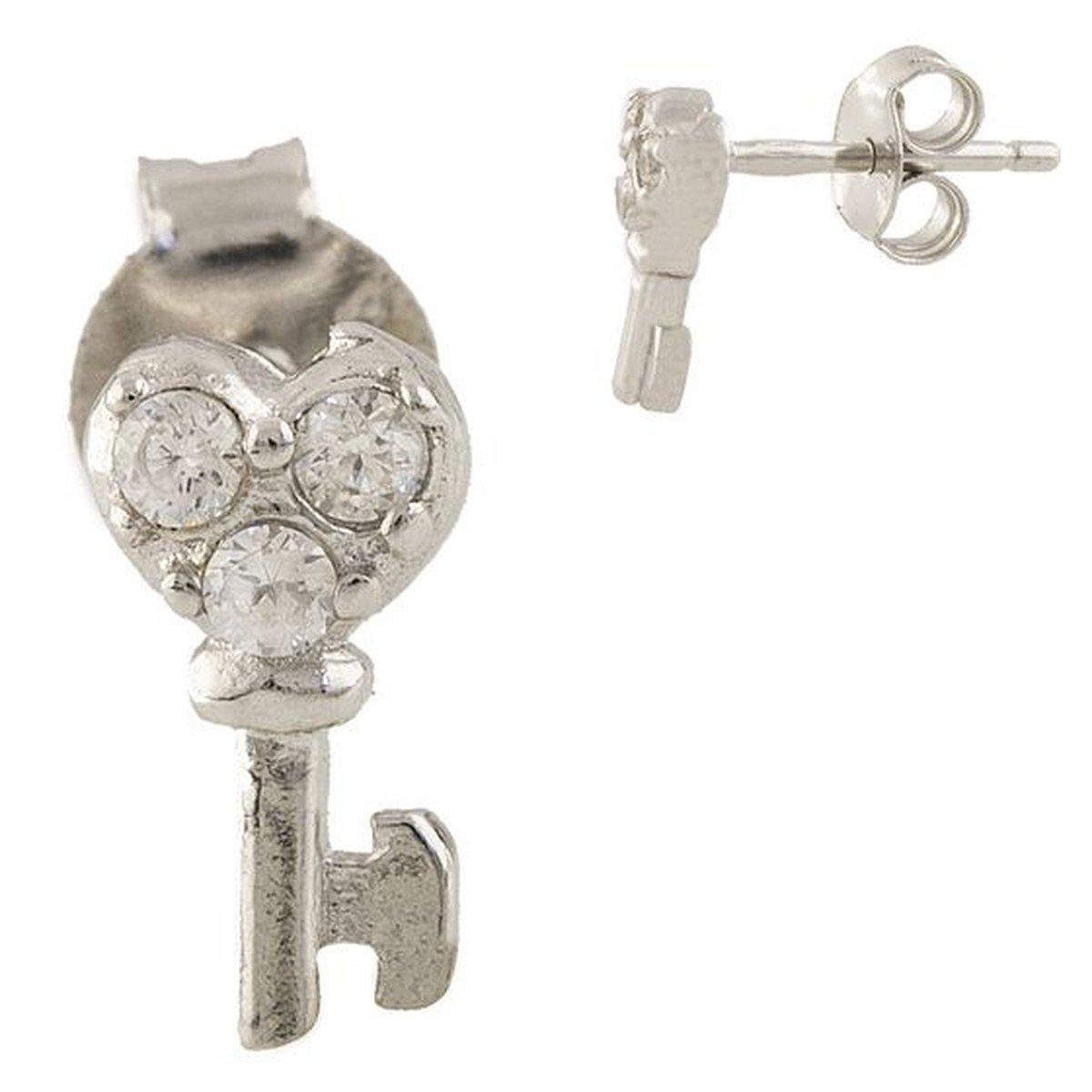 Срібні сережки DreamJewelry з фіанітами (1338803)