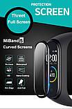 Защитная пленка для фитнес браслета Xiaomi Mi Band 5 с рамкой, комплект - 2 шт., фото 2