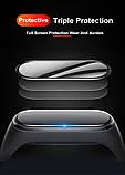 Защитная пленка для фитнес браслета Xiaomi Mi Band 5 с рамкой, комплект - 2 шт., фото 7