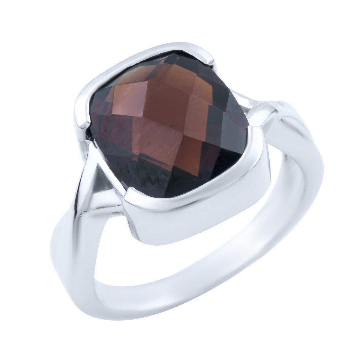 Серебряное кольцо DreamJewelry с натуральным гранатом (1663684) 18.5 размер