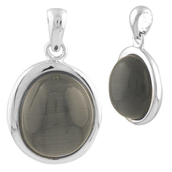 Серебряная подвеска DreamJewelry с кошачим глазом (1739549)