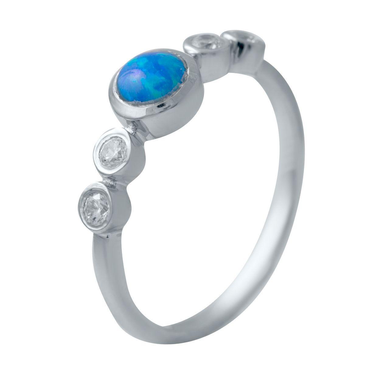 Серебряное кольцо DreamJewelry с опалом (2034605) 17 размер