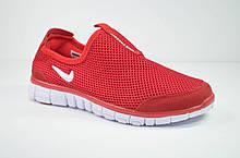 Подростковые и женские кроссовки сетка летние красные в стиле Free (3005 - 9)