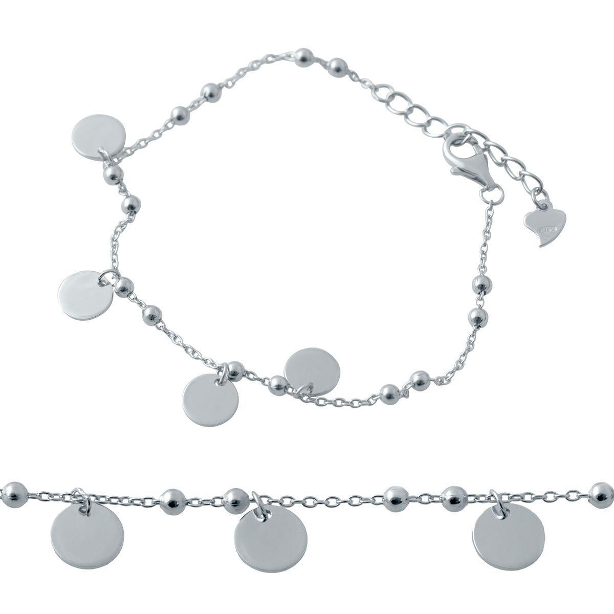 Срібний браслет DreamJewelry без каменів (2037064) 1720 розмір