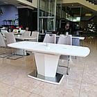 Стіл обідній розкладний МДФ + скло ТМL-700 Vetro Mebel ™, фото 2