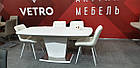 Стіл обідній розкладний МДФ + скло ТМL-700 Vetro Mebel ™, фото 4
