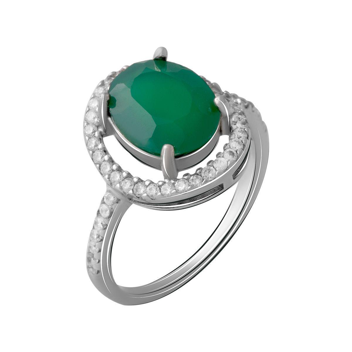 Серебряное кольцо DreamJewelry с натуральным агатом (1952375) 16.5 размер