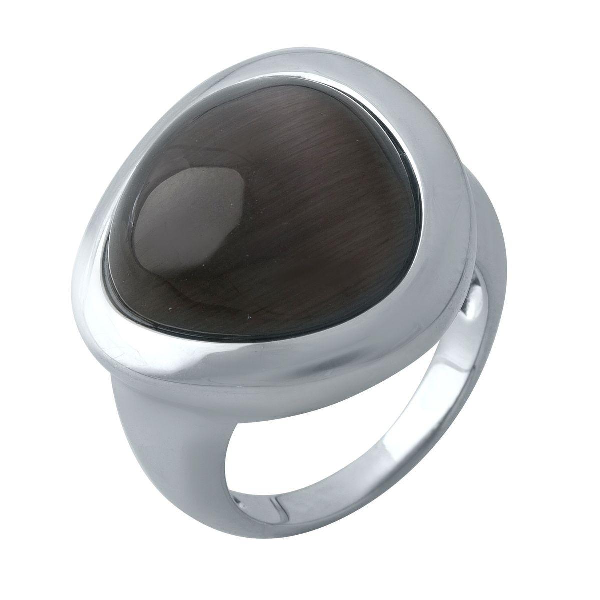 Срібне кільце DreamJewelry з кошачим оком (1975015) 18 розмір