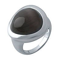 Срібне кільце DreamJewelry з кошачим оком (1975015) 18 розмір, фото 1