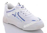 """Кроссовки женские A771 white-blue (8 пар р.36-41) """"U-Chin"""" GB-1267"""