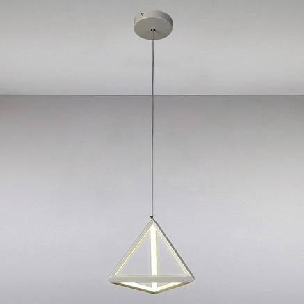 Оригинальный подвесной led светильник Пирамида белый корпус 20w 4000K LV 801L7253 WH LED 20W, фото 2