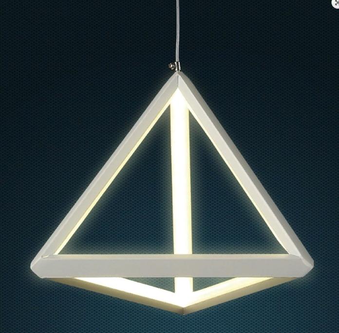 Оригинальный подвесной led светильник Пирамида белый корпус 20w 4000K LV 801L7253 WH LED 20W