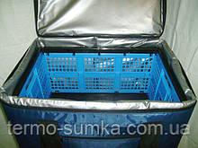 Термосумка курьера под ящик, для доставки обедов в офис.