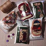 Набор для творчества Елочная игрушка из ткани Пряничный имбирный человечек 12*13 см (подробные фото внутри), фото 3