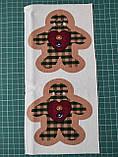 Набор для творчества Елочная игрушка из ткани Пряничный имбирный человечек 12*13 см (подробные фото внутри), фото 2