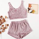 Пижама женская плюшевая мягкая розовый, лаванда 42-44,46-48, фото 2