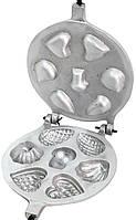 """Форма для выпечки""""Ассорти крупное"""" под начинку (сердечко, ракушка, шишка и грибочек)."""