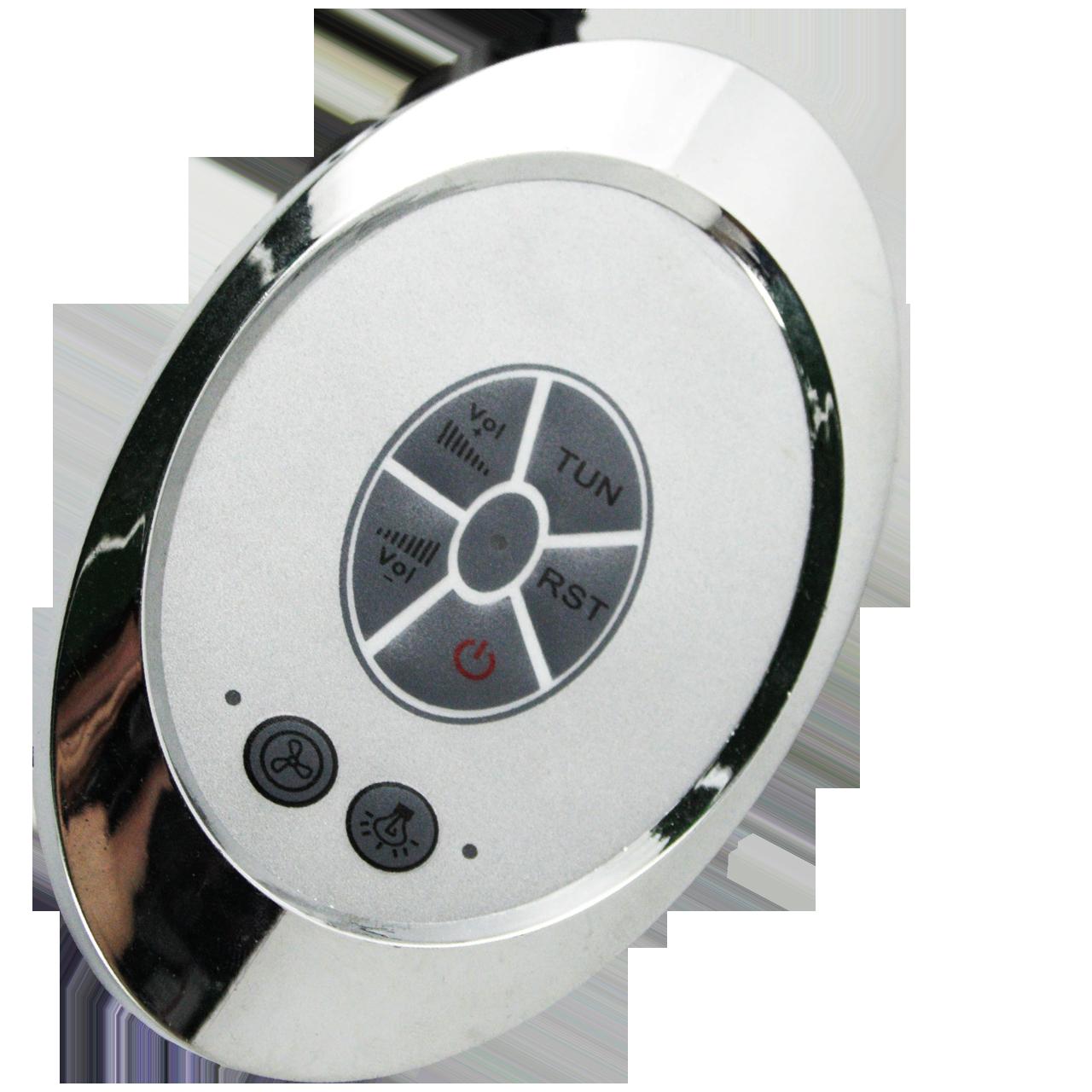 Блок управления, пульт душевой кабины кнопочный с радио ( Бу-17 ) Овальной формы.