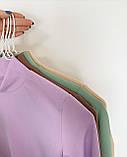 Гольфик женский рубчик лиловый, бежевый, мята, коричневый, фото 3