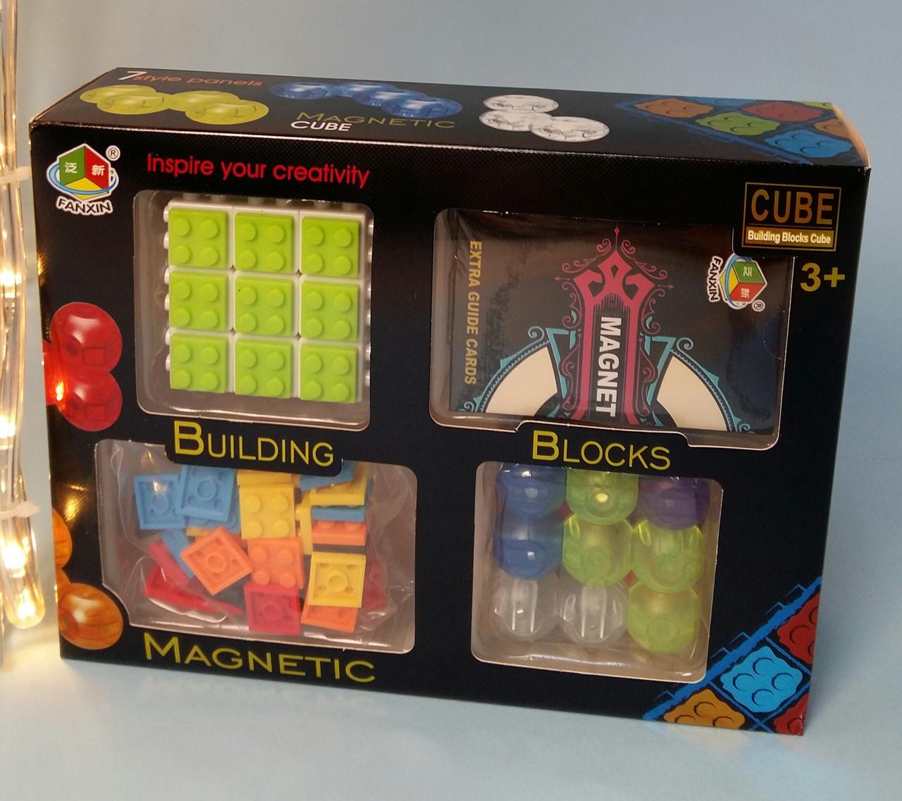 Гра магнітна головоломка кубик, картки,в коробці FX7869
