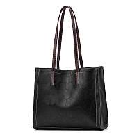 Женская черная сумка, классическая сумка из эко-кожи, женская повседневная сумка миди  CC-4591-10