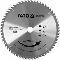 Диск пиляльний победітовий по дереву YATO: 305x30x3.2x2.2 мм, 60 зубців, R.P.M до 5000 1/хв