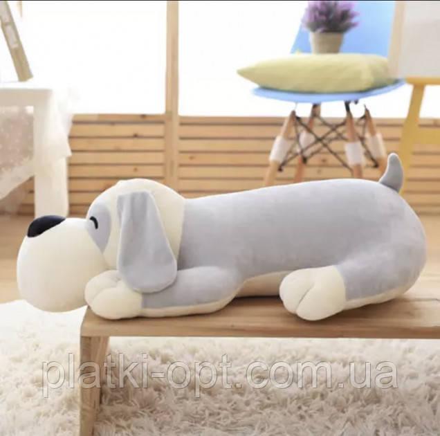 Детский плед-игрушка Собака (серая)