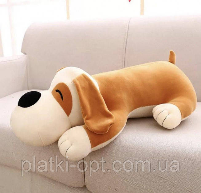 Детский плед-игрушка Собака (бежевая)