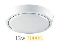 Настенно-потолочный светильник 12W 3000K 220V IP44 светодиодный круглая LED, фото 1