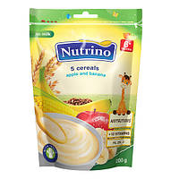 Nutrino Каша безмолочная - 5 злаков с яблоком и бананом 200г.