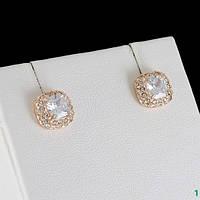 Поразительные серьги с кристаллами Swarovski, покрытые золотом 0724