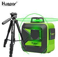 ☀Лазерный уровень Huepar 3D HP-603CG + штатив HUEPAR, фото 1