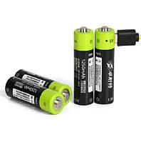 Аккумулятор ZNTER АА 1700 Mah 1,5v Li-Po зарядка через microUS, фото 1