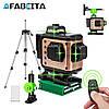 НОВИНКА 2020➤➤Лазерный уровень AFABEITA 4D-360G зеленый луч + штатив В ПОДАРОК
