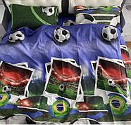 """Двуспальный комплект (Ранфорс)   Постельное белье от производителя """"Королева Ночи""""   Футбол, фото 2"""