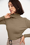 Гольфик женский под гордо рубчик белый, чёрный, серый, бежевый, пудра 42-44,46-48, фото 8