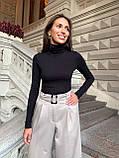Гольфик женский под гордо рубчик белый, чёрный, серый, бежевый, пудра 42-44,46-48, фото 9