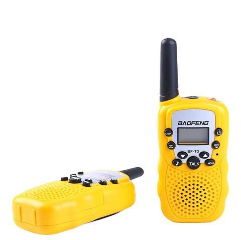 Рация Baofeng MiNi BF-T3 PMR446 2 штуки->Желтые. Радиус до 3км