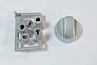 Ручка регулировки для плит серебристая (5 переходников в комплекте) универсальная, фото 1