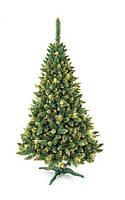 Искусственная елка сосна Роса золотая с шишками 180 см (штучна ялинка смерека ель разборная на подставке)