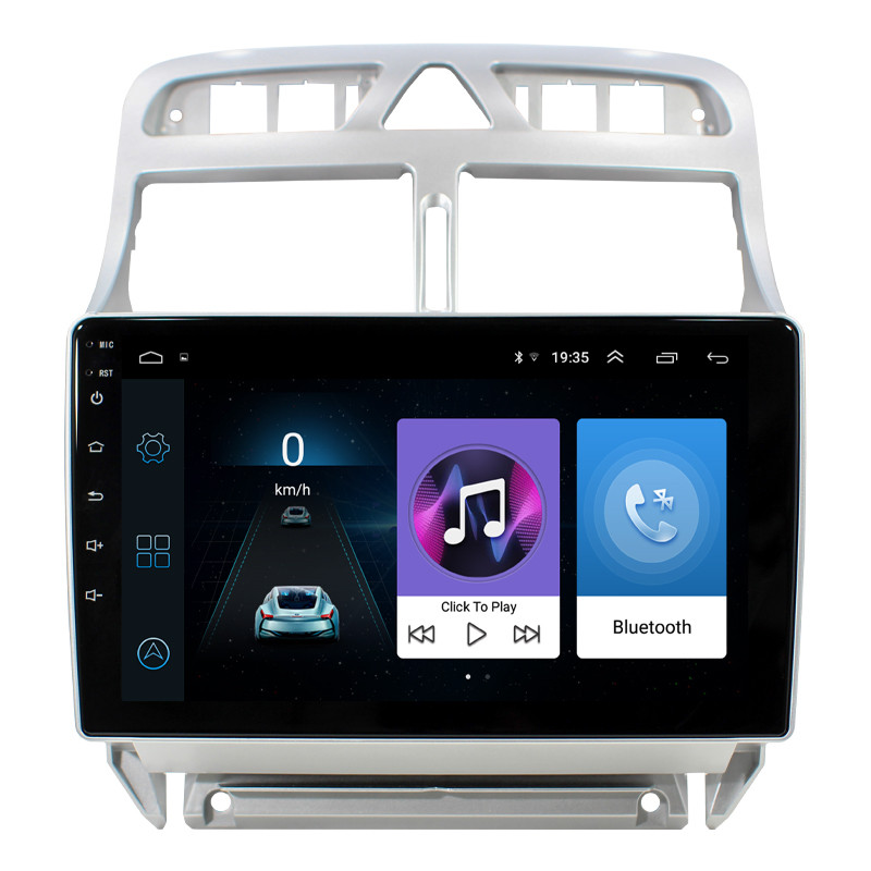Штатная автомобильная магнитола Lesko для авто Peugeot 307 (2007-2013г.) память 1/16 GPS Android
