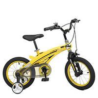 Велосипед детский WLN1239D-T-4F Projective, SKD 95, желтый, фото 1
