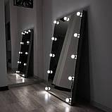 Гримерное бескаркасное  зеркало с подсветкой  в полный рост, фото 2