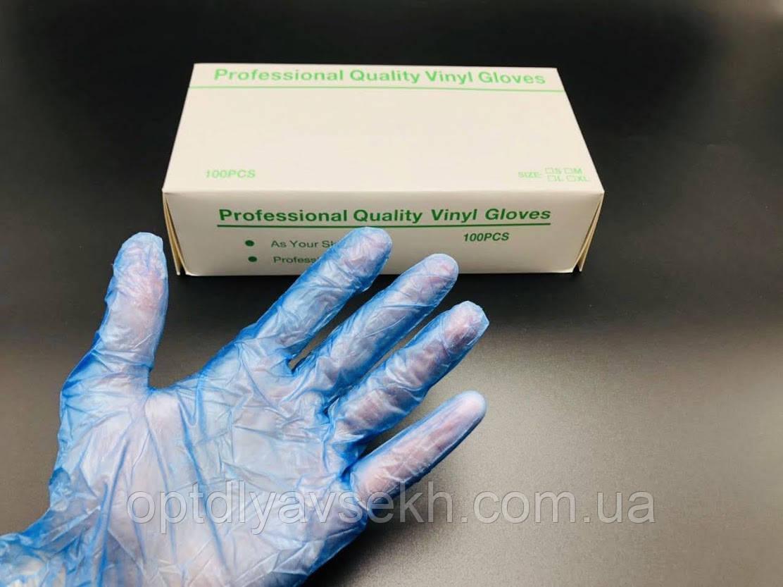 Перчатки виниловые L, 100 шт.