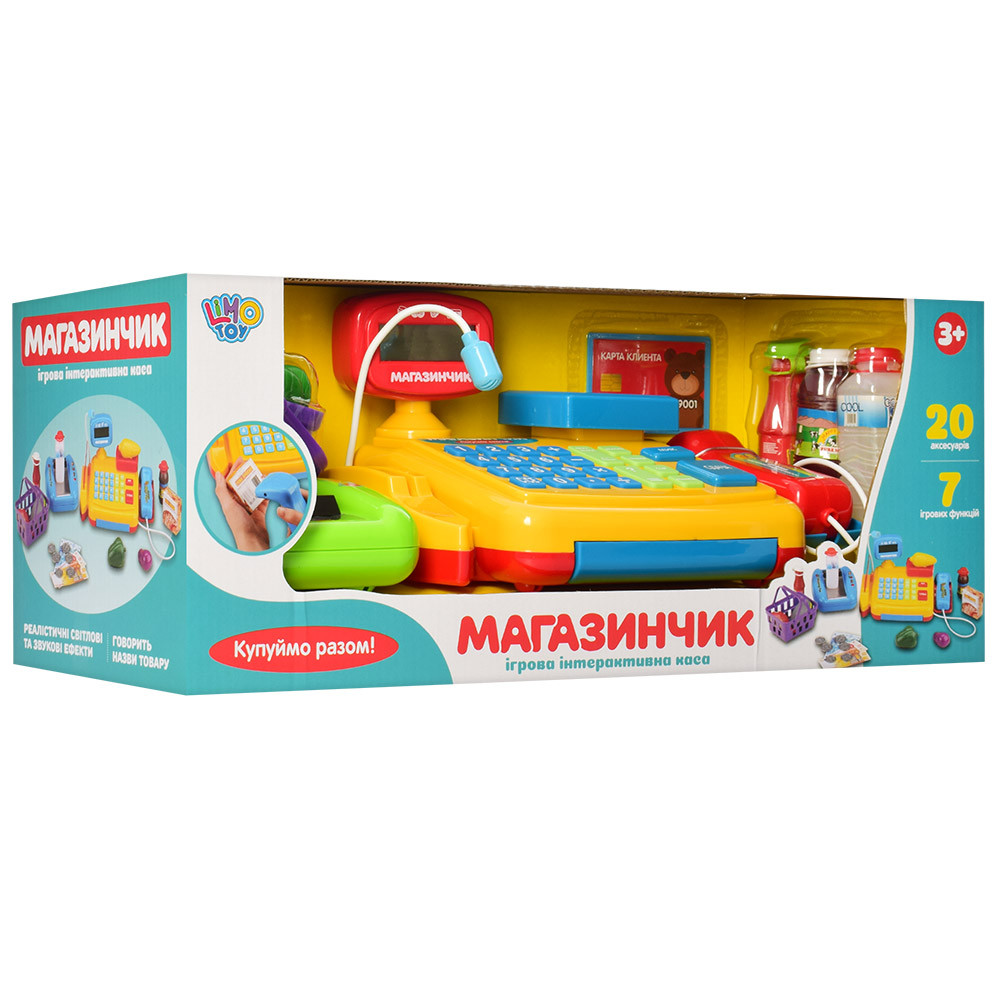 """Іграшковий касовий апарат Limo Toy """"Магазинчик"""" (7018 RU)"""