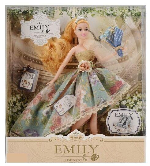 Кукла Emily с длинными волосами, и букетом цветов (QJ 078 D), 29 см