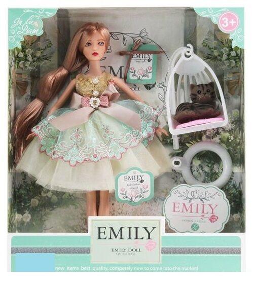 Кукла Emily с длинными волосами, и кошечкой (QJ 088 C ), 29 см
